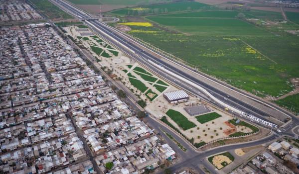 Aerial view La Pintana Chile