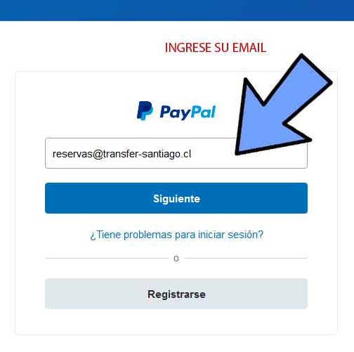 Payment Paypal email income from the account